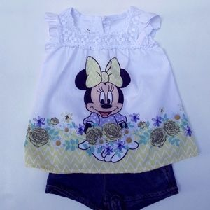 Disney Baby Girl Minnie Mouse Clothes 12 month